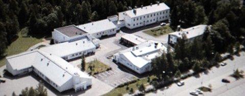 Bildet viser et flyfoto av skolen i Kauhajoki, Finland, der skytingen fant sted tirsdag formiddag (23.09.2008).