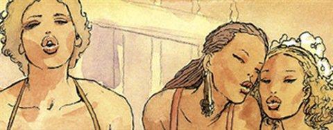 Italienske Milo Manara står bak flere erotiske tegneserier, og gjester Raptus i 2009.