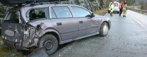 Glatte veier også i Nordhordland, gjorde torsdagen til en uheldig glatt og ekkel dag.