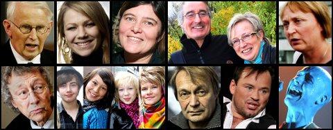 Øverst fra venstre: Ole D. Mjøs, Maria Haukaas Storeng, Ann Karina Sogge,  Jan Henry T. Olsen /Laila Lanes og  Eva Husby. Nederst fra venstre: Knut Erik Jensen, the BlackSheeps, Nils Gaup, Mikkel Gaup og Madrugada.