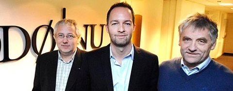 Børre Arntzen, Geir Are Jensen og Snorre Pedersen starter ny avis i Bodø.
