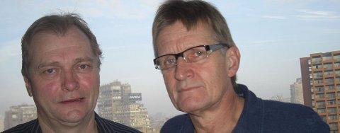 I GAZA: De norske legene Erik Fosse (t.h.) og Mads Gilbert jobber nå ved sykehus i Gaza.