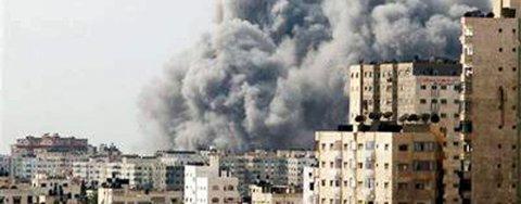 BOMBET: Israel bomber Gaza.