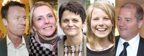 Roger Ingebrigtsen, Pia Svensgaard, Lisbeth Berg Hansen, Kirsti Bergstø og Odd Roger Enoksen.