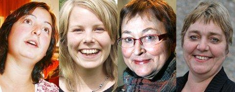 Drømmedamer fra nord: Ellen Øseth, Kirsti Bergstø, Gerd Bjørhovde og Kjersti Markusson.