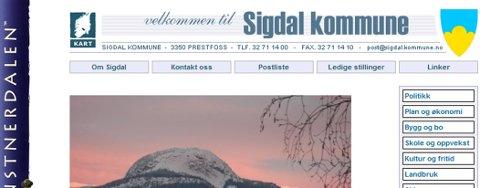 Nettstedet til Sigdal kommune havnet nær bunnen på Difi rankingen av nærmere 700 kommunale og statlige nettsteder  i Norge.