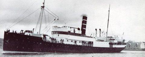 Bygget 1912 ved B&W, København for BDS, Bergen. Skipet seilte i mange år uten spesielle uhell. Ble i 1940 tatt av tyskerne som losjiskip. De døpte det «Satan», men det navnet måtte de forandre. Skipet ble tilbakelevert og kom i rutefart ved juletider. Rekvirert igjen under evakueringen.