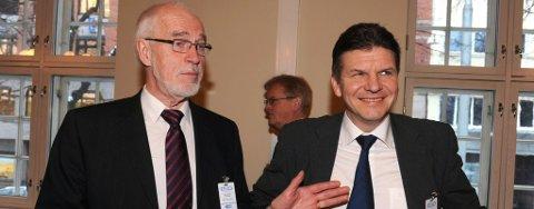 Styreleder Johan Petter Barlindhaug (til venstre) og direktør Erik Karlstrøm i North Energy.