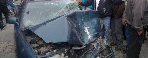 Ulykken skjedde midt i gågata i Storgata litt før klokka 14.