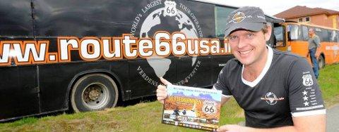 Tidligere Rana Blad-journalist Arve Stallvik eier og leder verdens største Route 66 reisearrangørfirma.