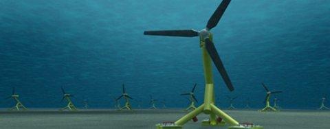 Hammerfest Strøm vil bygge slike tidevannsanlegg i Storbritannia.