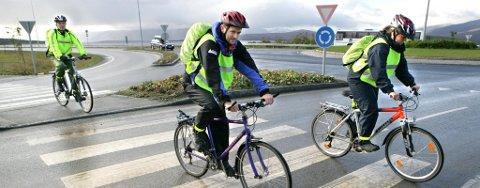 DÅRLIGE SYKKELFORHOLD: Statens vegvesen inspiserer kryss, gater og sykkelstier for å avsløre feil og mangler i Tromsø. (ARKIVFOTO)