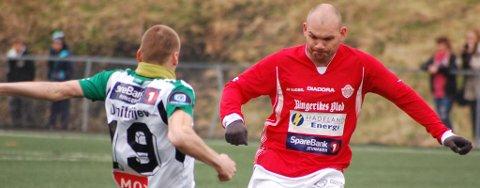 SCORET: Allan Simonsen ga Jevnaker ledelsen allerede etter fire minutter i lørdagens kvalifiseringskamp.