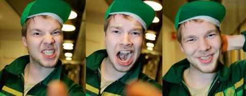 MUNNRAPP: Martin Solvang Johnsen fra Sortland, bosatt i Tromsø, vet å uttrykke seg. 16. oktober ble han kåret til norges beste i banning.