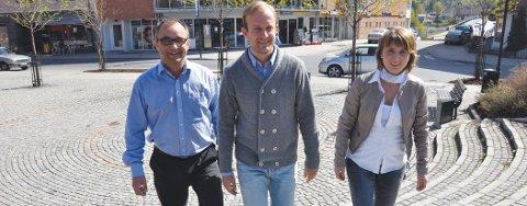 Geir Østensen i Sparebank1 Modum, påtroppende redaktør i Bygdeposten Øystein Sørumshagen og Frisklivssentralens Jorunn Killingstad håper flest mulig vil bli med på Bedrifts-impuls.