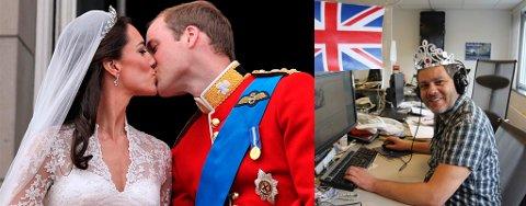 BRYLLUP: William og Kate kysset hele to ganger på balkongen. Begge kyssene rapportert om på Nordlys - live.