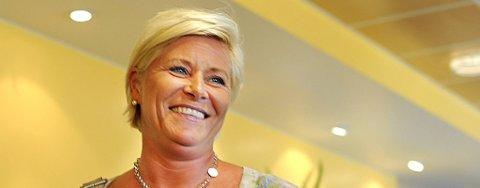 Frp-leder Siv Jensen mener Frp vil komme i posisjon i mange nye kommuner.