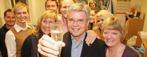 Bodøs nye ordfører Ole H. Hjartøy feirer mandag kveld.