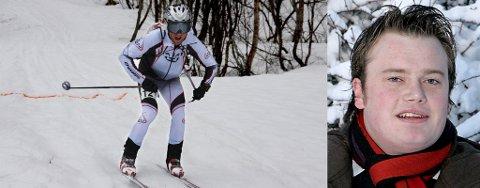 TOK NM-GULL: Ola Hovdenak i farta i siste nedkjøring fra Blåtind under NM i randonée i mai i år. Hovdenak vant NM-gull. Nå bevilger byråd Jonas Stein Eilertsen (V) (t.h.) penger til World Cup i Tromsø.