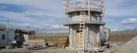 Nytt tårn på Hummelfjell synlig fra i dag.