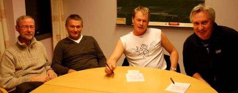 Ett Mo-lag er videre i NM-klubber. Fra venstre Morten Granhaug, Jack Holand, Geir Hogne Bonsaksen og Svein Kolstad.