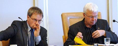 Rådmann Svein Blix og ordfører Odd-Tore Fygle.