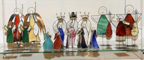 Noen av Tiffanyenglene.