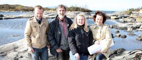 Espen Lothe, Magne Hovland, Marie Kronen Tveranger og Nina Liseth.