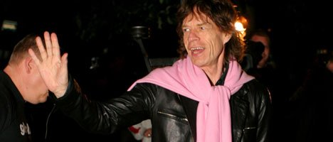 Mick Jagger ankommer Bryggen og Bergen.