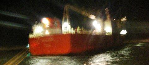 MS Svealand på rek i havna.