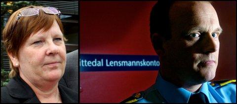 - ALVORLIG: Lensmann Bjørn Bratteng ved Nittedal lensmannskontor forteller at de etterforsker både e-post-sjikane og bil-sabotasjen mot Nittedal-ordførere hilde Thorkildsen (innfelt).