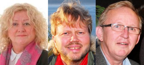 KRONIKKFORFATTERE: «Team Jenssen», fra venstre Synnøve Jenssen, Øyvind Ravna og Jan H. Rosenvinge.