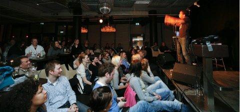 Populært. Latter tour på Sydøst i 2011. Standup er et populært innslag i Bodøs kulturliv.