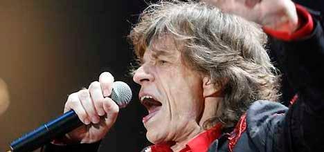 Mick Jagger på scenen i Bergen.