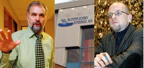 Ordførar Nils Gjerland (t.v.) foreslo Frank Willy Djuvik til energiverkstyret, og stilte sjølv som motkandidat.