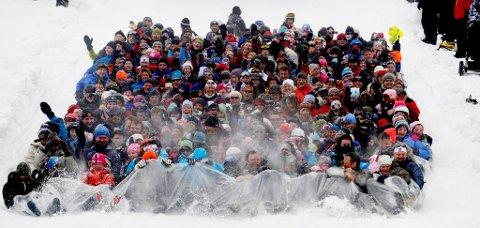 484 personer møtte mandag opp på Sjusjøen skisenter og sikret nok en rekord.