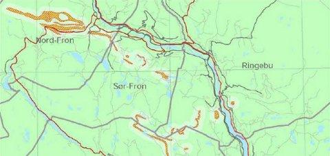 kart over radonforekomster i norge Gudbrandsdølen Dagningen   Nord Fron radonutsatt kart over radonforekomster i norge