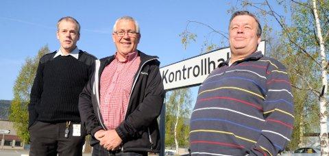 ØNSKER VELKOMMEN:  Jon Olav Ødegård (til venstre), Arne Ringen og Ivan Klevmo.