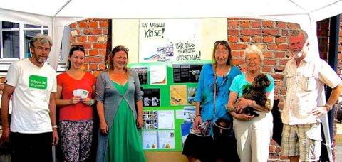 Piet Jensen, Elisabeth Basteson, Mona Nordgård, Bjørg Huseby, Bente Bakke og Helge Fossnæs i Miljøpartiet De Grønne i Vestby.