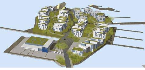 Fra presentasjonen av vinnerutkastet i arkitektkonkurransen om holmen. (Kritt - Østengen & Bergo)