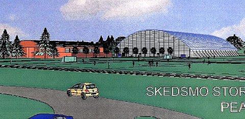 KLAR NESTE ÅR: Storhallen på 105x68 meter på Lillestrøm stadion skal stå klar i løpet av neste år ? og få en tilskuerkapasitet på 3.000.      BYGGER SELV: LSK kan neppe regne med hjelp til å bygge fotballhallen. Men klubben sier de skal ha den   klar før   jul     likevel.      HELL MED HALL: Det er fremdeles en mulighet for å bygge storhall i Skedsmo.      DRØM: Her er hallen LSK drømte om.  KAN BLI REALITET: LSK-leder Per Mathisen sier klubben er klar til å starte byggingen av storhall på 105x68 meter med plass til 3.000 tilskuere etter sommerferien, om kommunen rekker å gjøre de nødvendige vedtak. Da vil hallen stå ferdig neste høst.