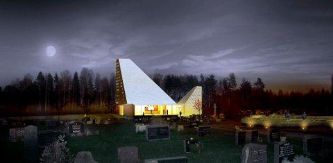 Dette er forslaget som vant arkitektkonkurransen om nye Våler kirke i Hedmark. Det har lenge vært hard strid om ny kirke i kommunen, men der har diskusjonen i mindre grad dreid seg om kopi eller ikke av den gamle kirken. Andre forhold har skapt mer debatt.