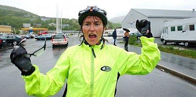 FØRST: Først i mål av jentene var Marit Klaussen, og hun imponerte i den 50 km lange løypa.