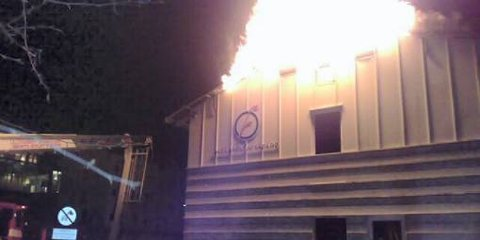 Det brenner i bygningen til Østlandsforskning.