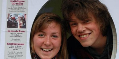 Are Kvikstadhagen (17) og Marte Røe Nåvik (17) er skikkelig kule fjes på GDs spesialforside under Lillehammerdagene. Er du i Lillehammer, stikk innom standen vår du også da, vel!
