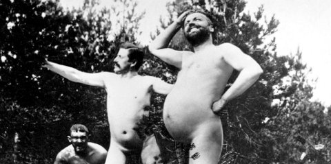 FRILYNT PÅ 1800-TALLET: Gustaf Fröding (til høyre) sammen med forfatter og poet Verner von Heidenstam på sistnevntes sommersted i Sandhamn 1896.