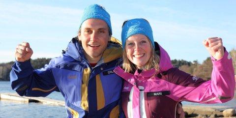 Erlend Rønning fra Lillehammer og Mari Wedum fra Øyer blir å se på TV i høst. Foto: TVNorge