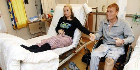 Ole Johan Arnestad med dattera Line etter at en vellykket nyredonasjon fra datter til far i 2006. Nå har Eidsivating lagmannsrett avgjort at han skal ha erstatning. Den kan bli svært høy, ifølge Advokat Thorsteinn Skansbo.