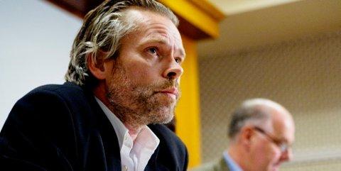 Stig Sæterbakken i dag på pressekonferansen.