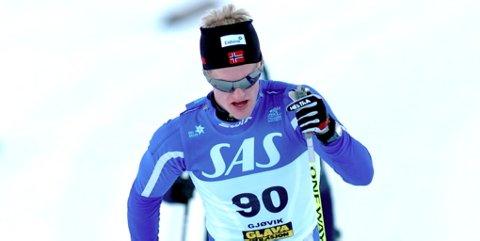 Morten Eide Pedersen skal gå førsteetappen på dagens stafett.